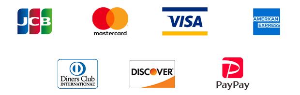 クレジットカード/JCB,Mastercard,Visa,Amex,DinersClub,Discover,paypay